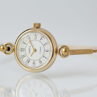 Gold plated women's wristwatch Seagull round women's watch tiny party watch strap ring