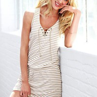 French Terry Lace-Up Dress - Supermodel Essentials - Victoria's Secret