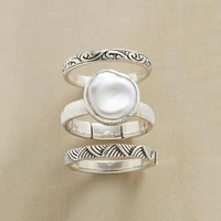 Pearl & Etching Ring Set | Robert Redford's Sundance Catalog