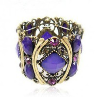 Fashion Big Gemstone Toggle Bracelets for Ladies