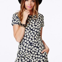 Missguided - Darcee Daisy Print Playsuit