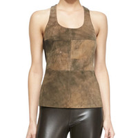 Bailey 44 Sugar Maple Leather/Knit Top