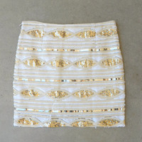 Golden Marquis Sequin Skirt [5896] - $25.20 : Vintage Inspired Clothing & Affordable Dresses, deloom | Modern. Vintage. Crafted.