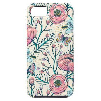 Vintage Rose Flowers Apple iPhone 5 Case