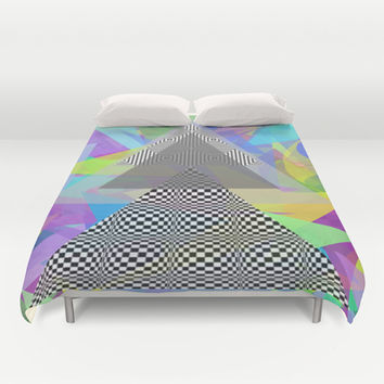 Geometric Mess Duvet Cover by DuckyB (Brandi)