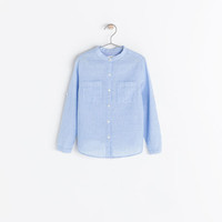 LONG SLEEVE SHIRT WITH MAO COLLAR