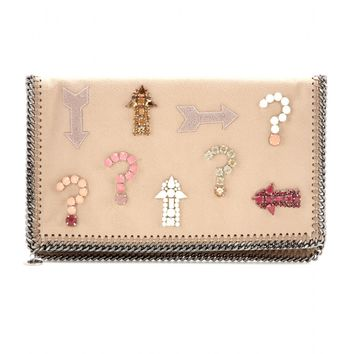 Falabella crystal-embellished clutch