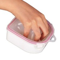 NAIL ART 1PCS SOAKING SOAK BOWL TRAY WASH SOAKERS Manicure Treatment remover box