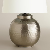 Hammered Pewter Accent Lamp Base - World Market