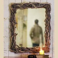 Driftwood Mirror : High Camp Home - Interior Design and Home Furnishings - Truckee and Lake Tahoe California