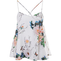 Buy True Decadence Cami Vest, White Flower | John Lewis