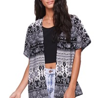 LA Hearts Paisley Kimono - Womens Shirts - Black - One Size