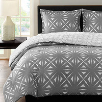 Echo Lattice Geo Charcoal Comforter Mini Sets