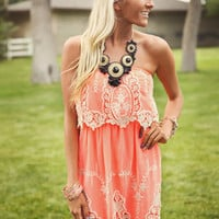 Summer Lovin Lace Dress Peach