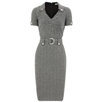 Bqueen Zig Zag Jersey Dress K287E - Designer Shoes|Bqueenshoes.com