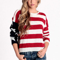 Lizabeth American Flag Sweater by John Galt