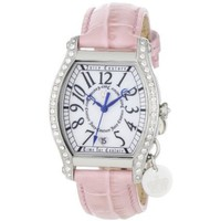 Juicy Couture Women's 1900765 Dalton Pink Leather Strap Watch