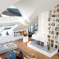 Magnificent ?Monster Loft? in Stockholm with Breathtaking Interior Arrangements
