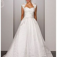 Buy discount  Glam Taffeta & Lace Sweetheart neckline 2 In 1 Wedding Dress With Beads at dressilyme.com