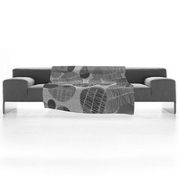 DENY Designs Home Accessories | Rachael Taylor Textured Geo Gray 1 Fleece Throw Blanket