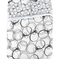 DENY Designs Home Accessories | Rachael Taylor Circles White Black Sheet Set