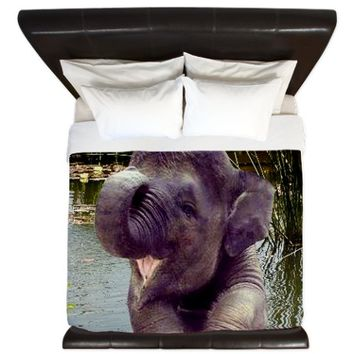 Baby Elephant King Duvet