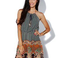 Papaya Clothing Online :: PAISLEY CHIFFON SHORT DRESS