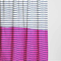 4040 Locust Colorblocked Stripe Shower Curtain - Urban Outfitters