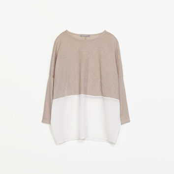 COMBINED KNIT T-SHIRT