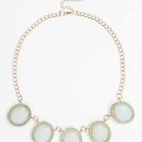 BP. Textured Crystal Statement Necklace (Juniors)