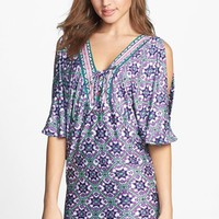 Nanette Lepore Tie Neck Cover-Up Tunic