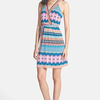 Laundry by Shelli Segal Print T-Back Jersey Dress