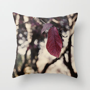autumn leaf  Throw Pillow by VanessaGF