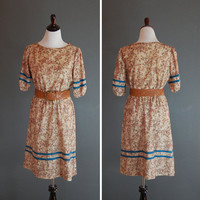 1970's Boxy Dress / 70's Tent Dress / by naturalstatevintage