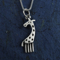 Giraffe necklace by StickManJewelry on Etsy