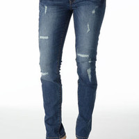 Alloy > Seven7 Destructed Stretch Skinny Jean > jeans > features > inseams up to 37