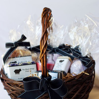 Large Basket of Soap and Bath Bombs by theblacksheepsoapco on Etsy