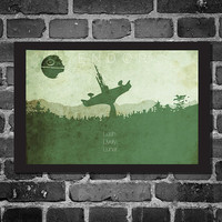 Star Wars Print Poster Movie poster star wars by Harshness on Etsy