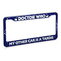 ThinkGeek :: Doctor Who License Plate Frame