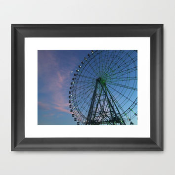 Skywheel Morikoro Park Framed Art Print by Hoshizorawomiageteiru | Society6
