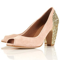 JAZZHANDS Glitter Peep Shoes - Low & Mid Heels - Heels  - Shoes - Topshop