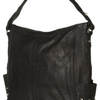 Studded Leather Hobo Bag - Topshop USA