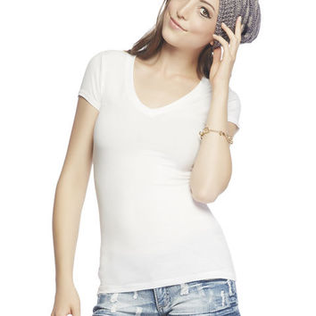Basic V-Neck Tee Shirt - WetSeal
