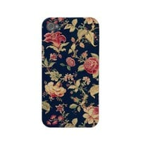 Elegant Vintage Floral Rose Iphone 4 Case-mate Case 