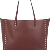 Valentino | The Rockstud medium reversible textured-leather tote | NET-A-PORTER.COM