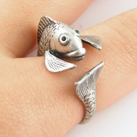 Silver Fish Wrap Ring | KejaJewelry - Jewelry on ArtFire