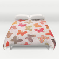 BUTTERFLY SEASON Duvet Cover by Daisy Beatrice | Society6