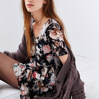 Oh My Love Floral Chiffon Dress - Urban Outfitters