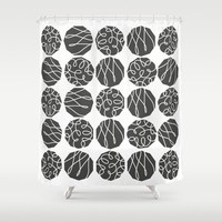 Society6 - Grey On White Shower Curtain by Nandita Singh