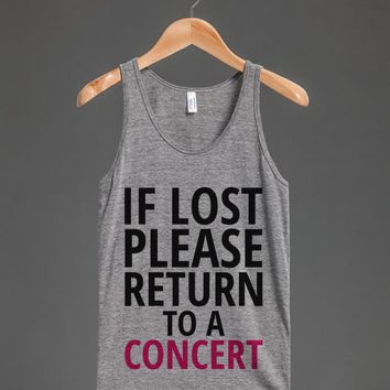 IF LOST PLEASE RETURN TO A CONCERT TANK TOP ID7231226